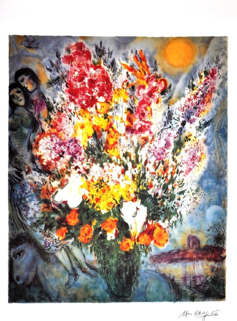 MARC CHAGALL (After) Floral Bouquet Print, I463 of 500