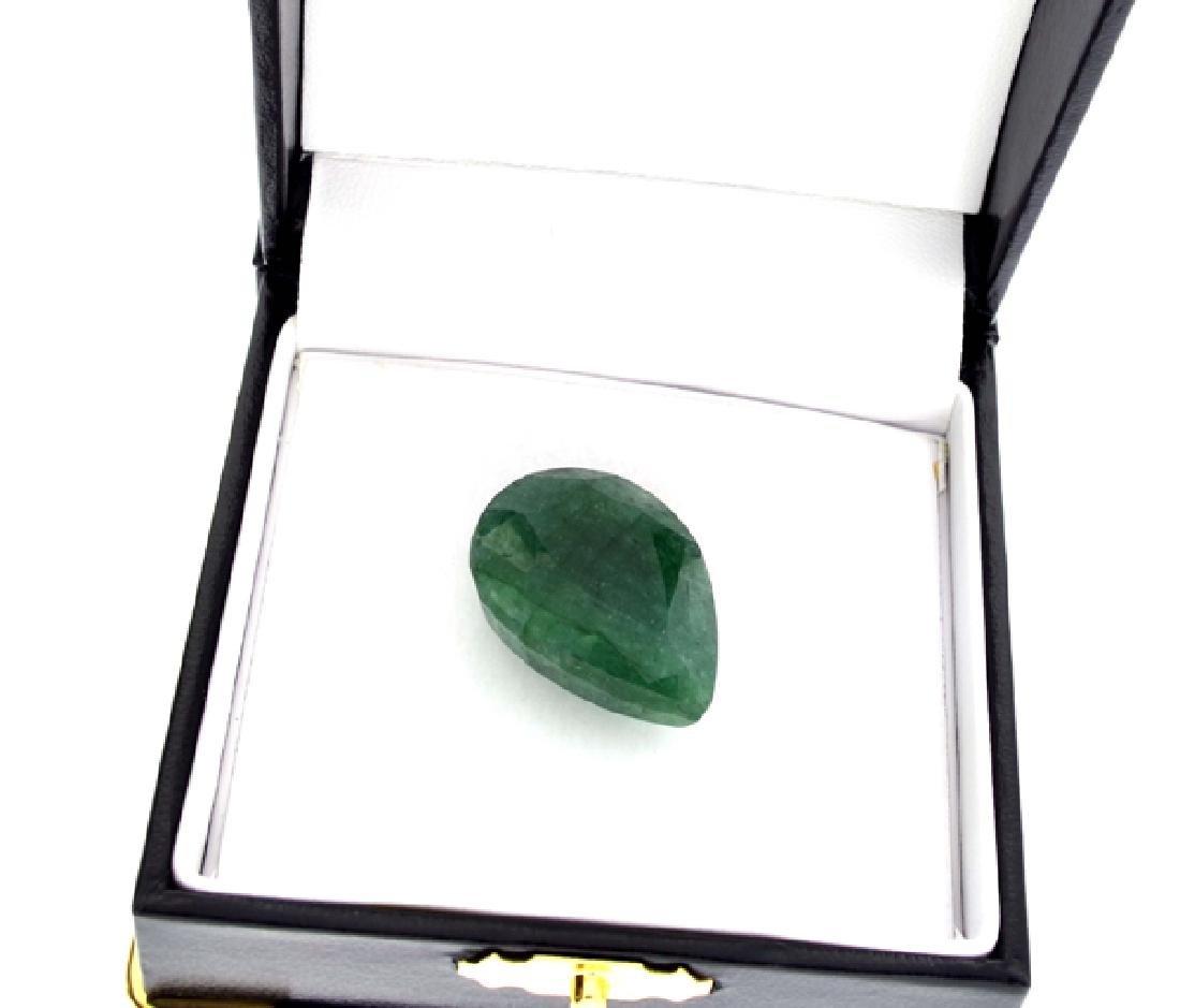 APP: 2k 40.00CT Pear Cut Green Beryl Emerald Gemstone