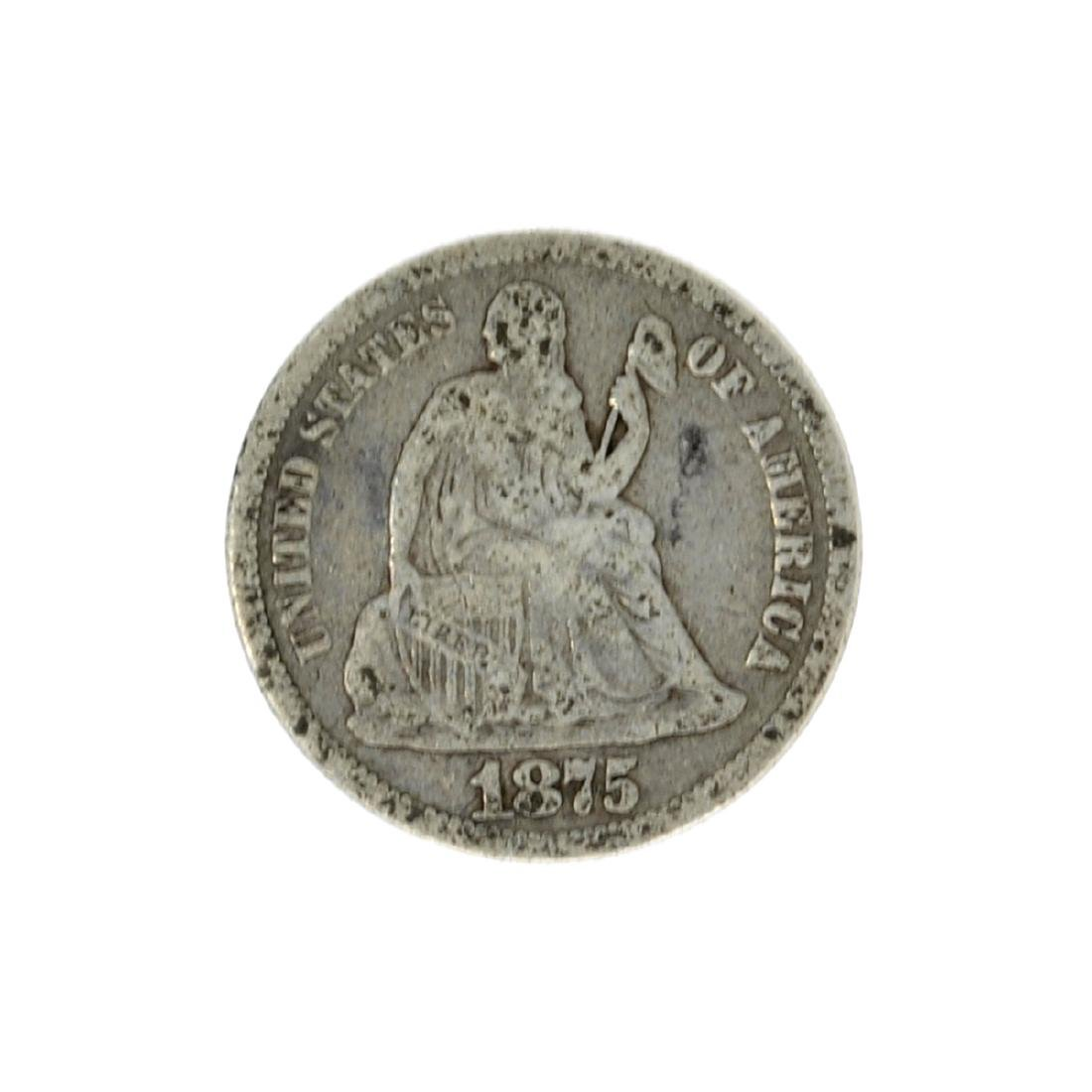1875 Liberty Seated Dime Coin