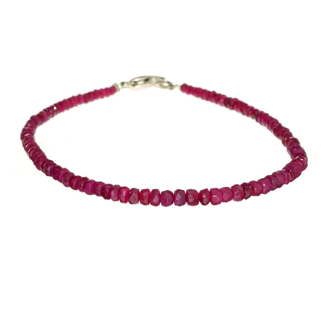 APP: 0.8k 40.00CT Round Cut Bead Ruby And Sterling