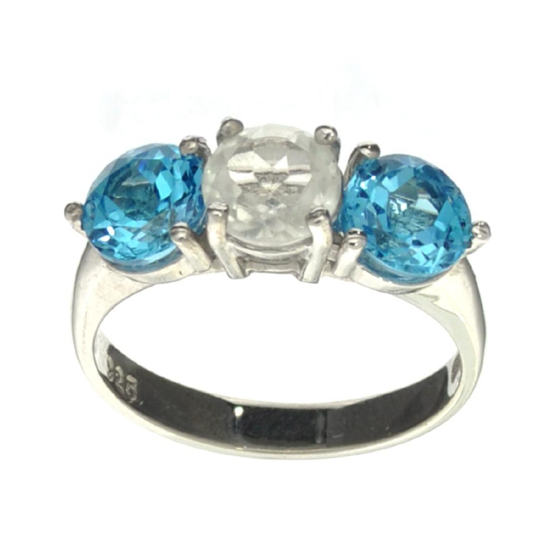 Fine Jewelry Designer Sebastian 3.02CT Round Cut Blue