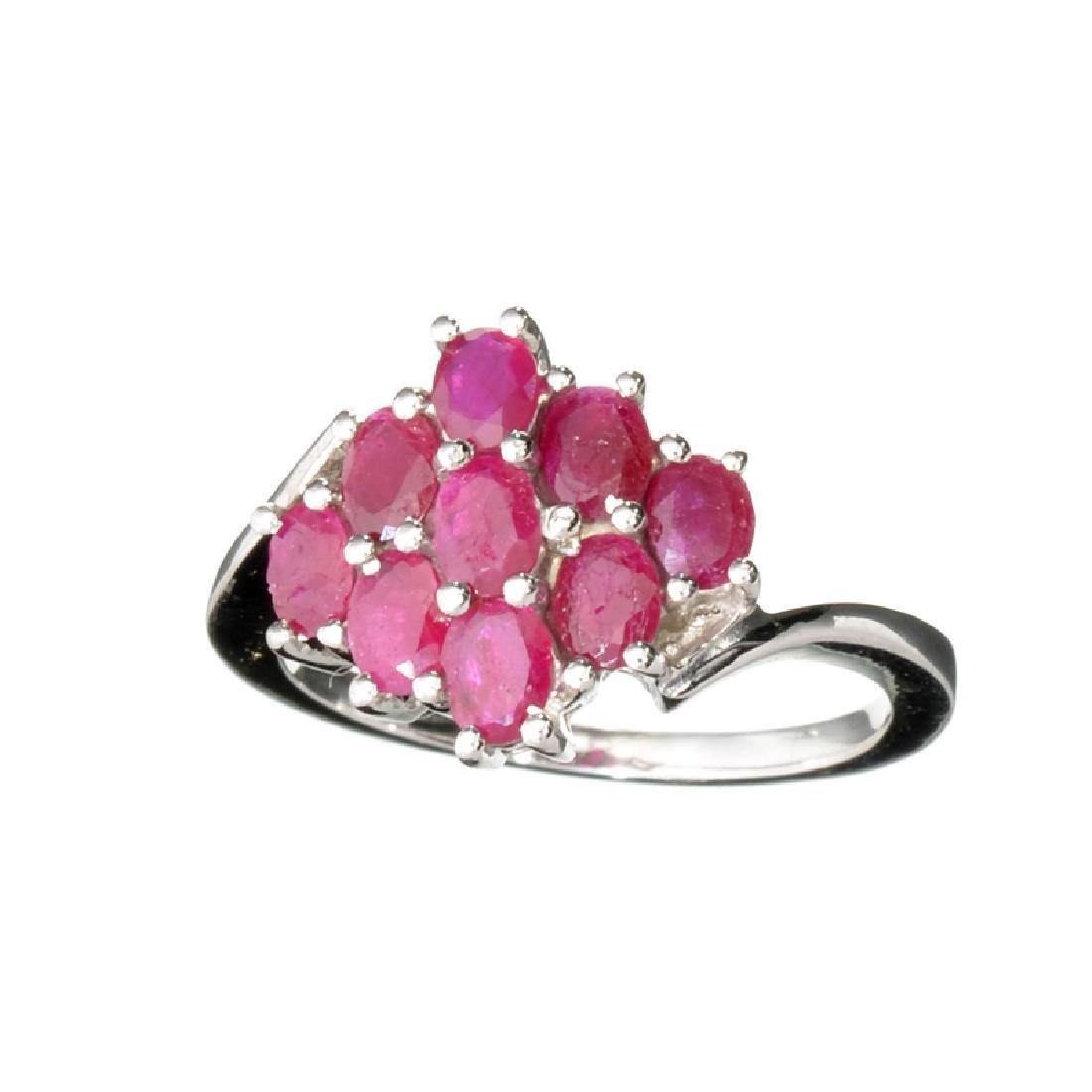 Fine Jewelry Designer Sebastian 1.89CT Oval Cut Ruby