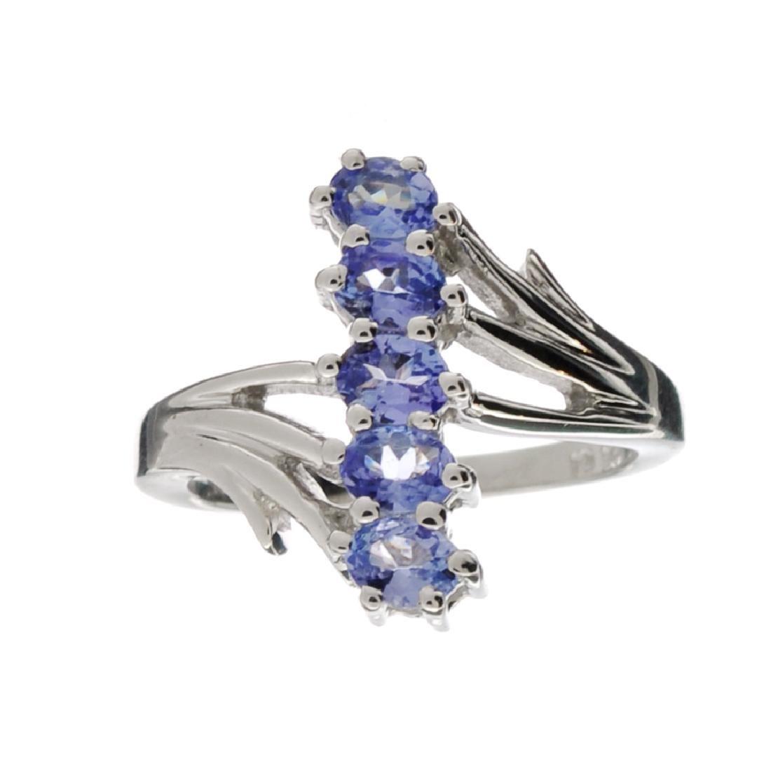 APP: 0.9k Fine Jewelry 0.80CT Oval Cut Tanzanite And