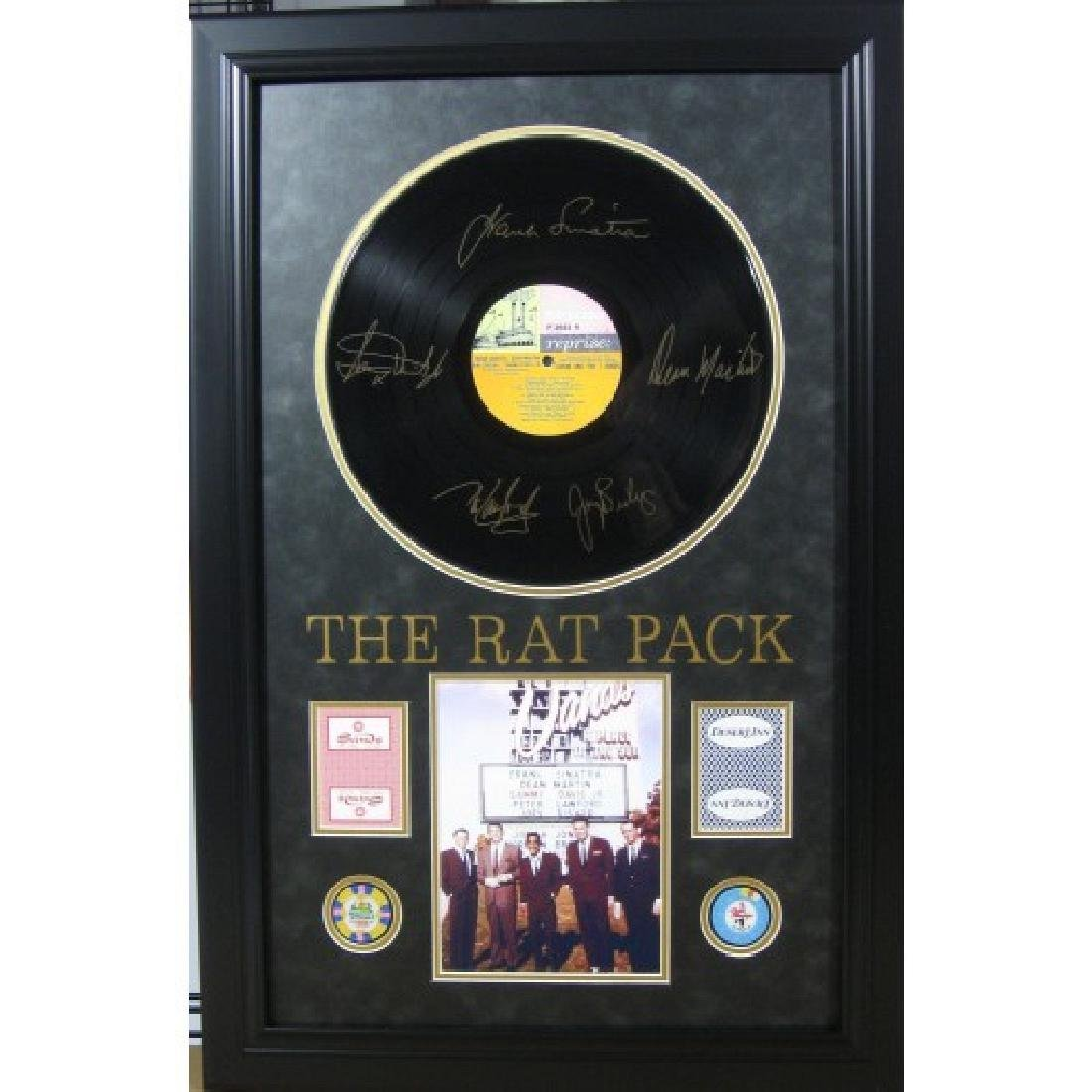 Rat Pack Engraved Record with Chips & Cards