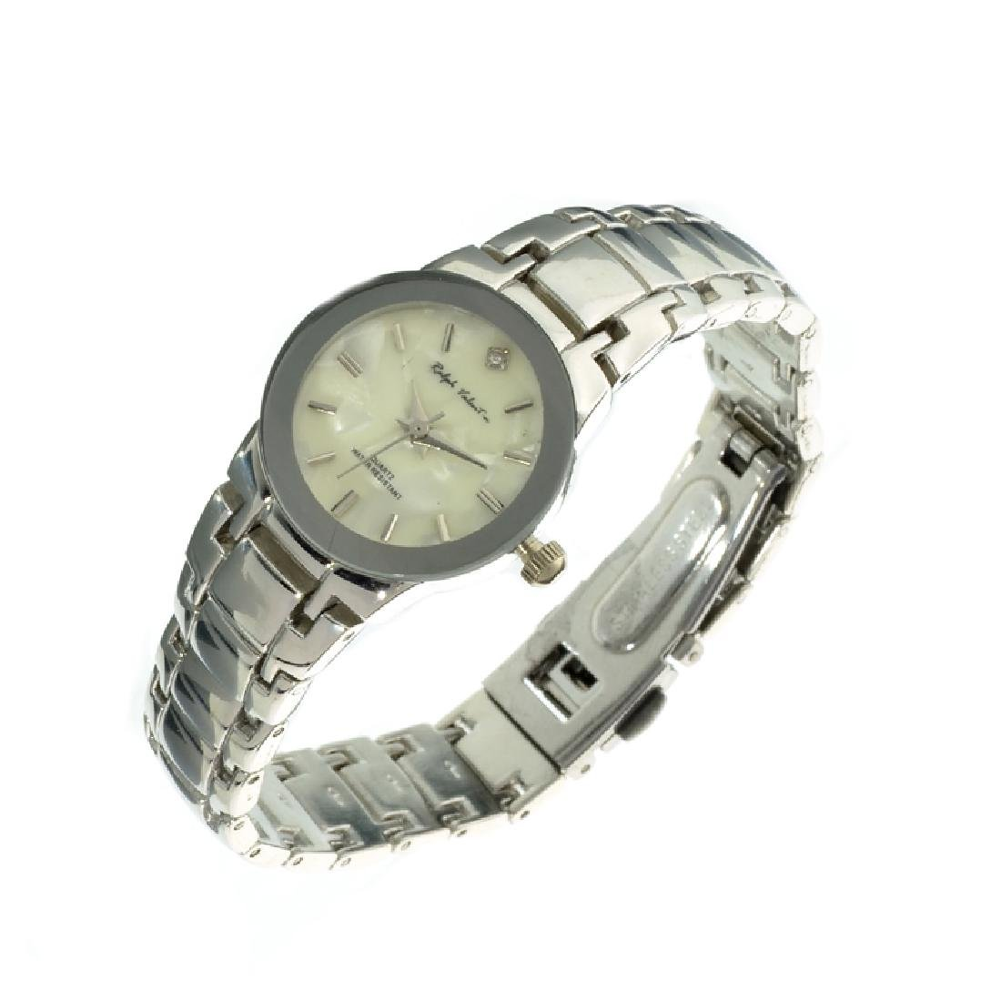 Ralph Valentin Women's Round Stainless Steel Silver and