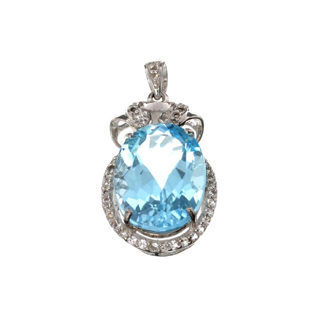 APP: 1.2k Fine Jewelry 16.75CT Blue Topaz And White