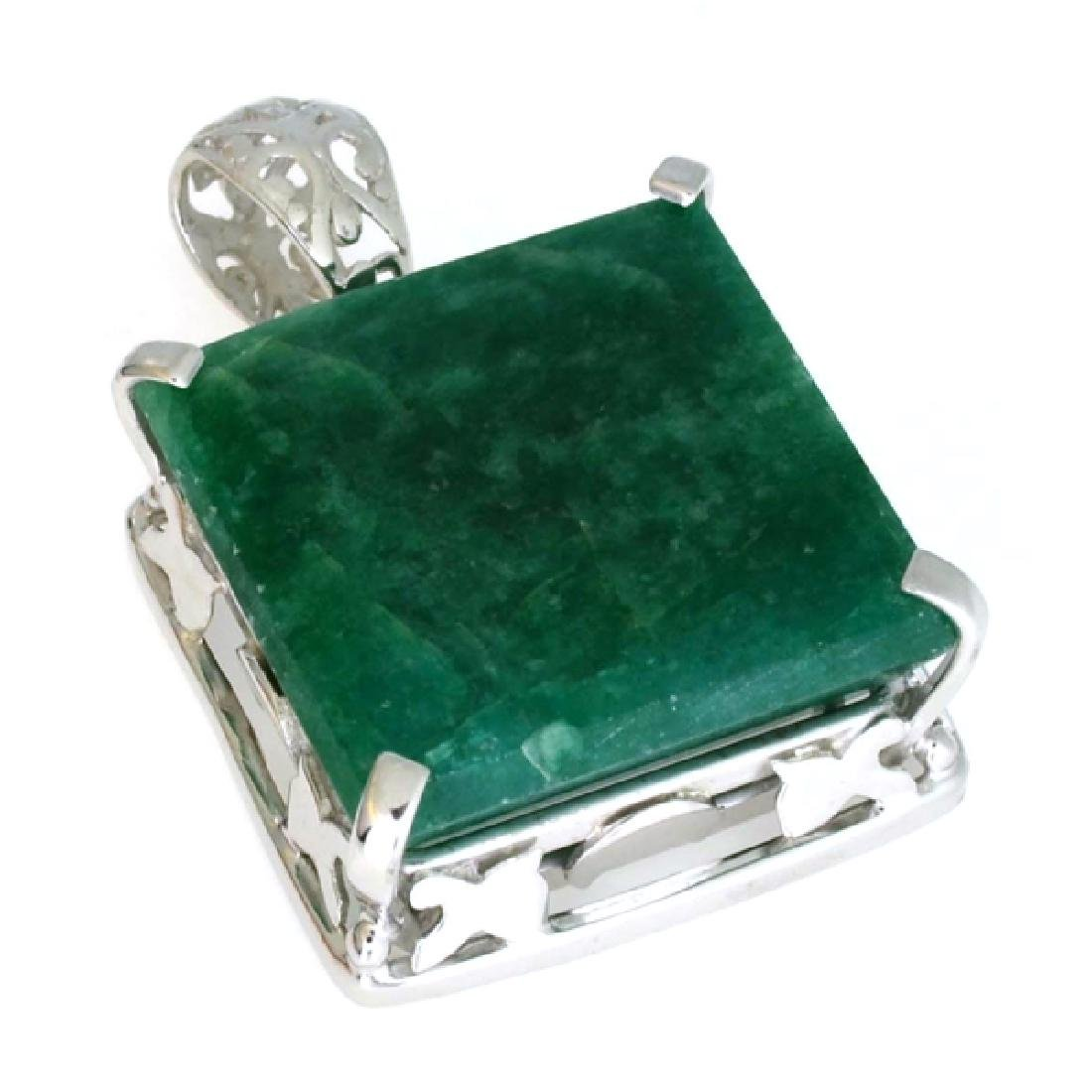 APP: 1.4k 64.72CT Square Emerald Cut Emerald And