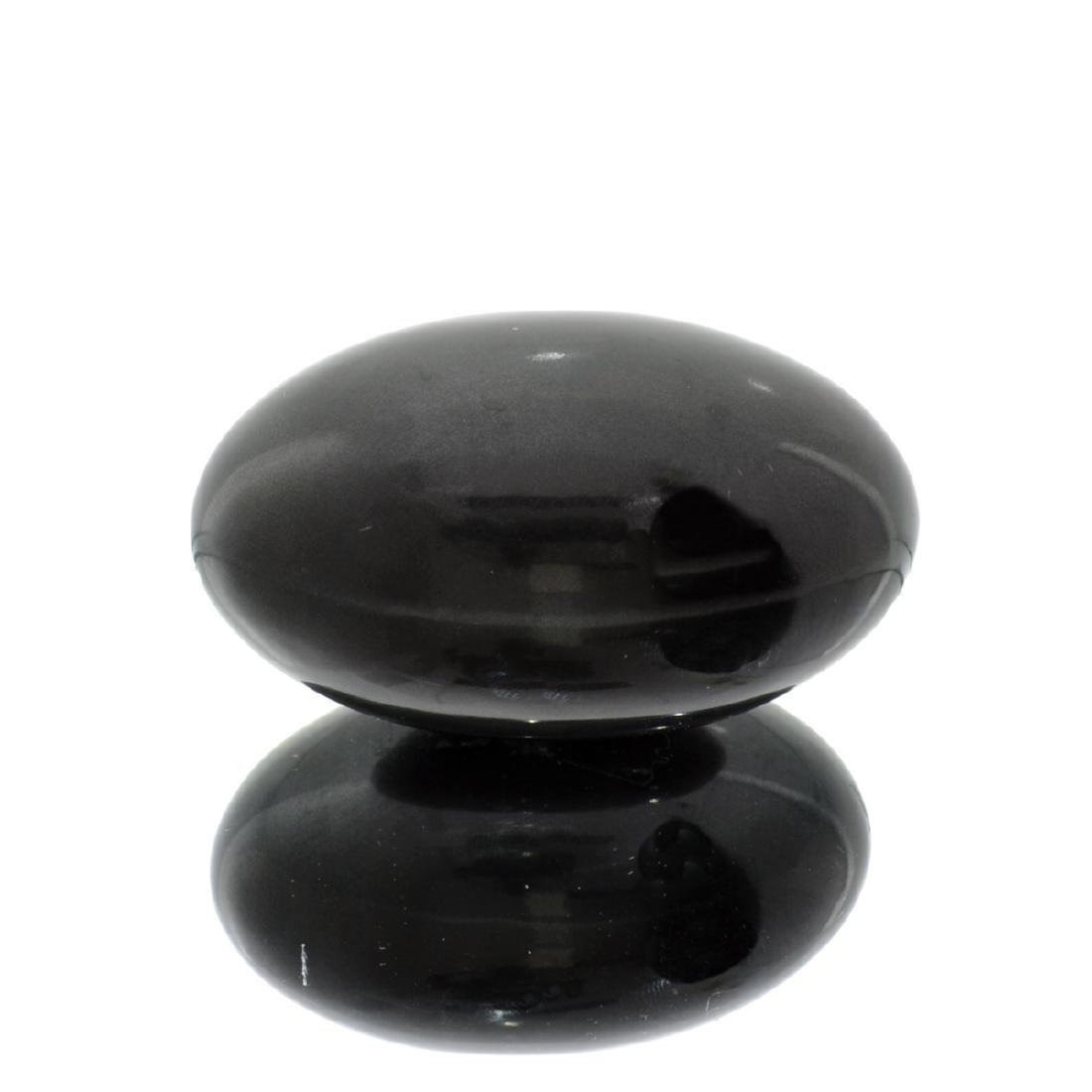 APP: 1.3k Rare 936.00CT Sphere Cut Black Agate Gemstone