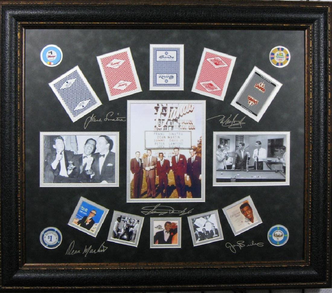 Rat Pack Casino Chips & Cards - Plate Signatures