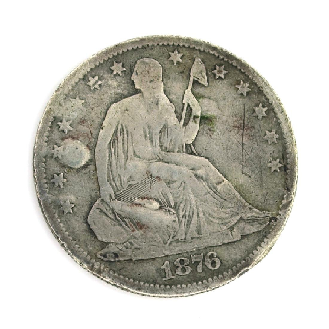1876 Liberty Seated Half Dollar Coin