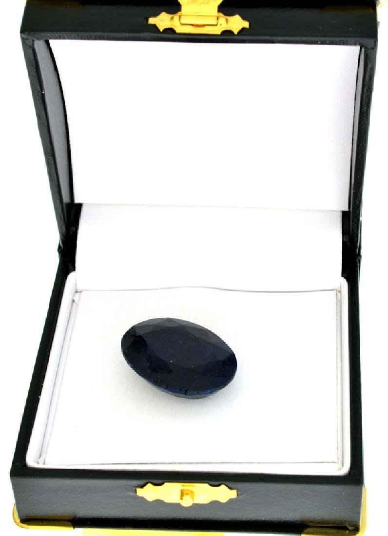 APP: 2.3k 46.67CT Oval Cut Blue Sapphire Gemstone