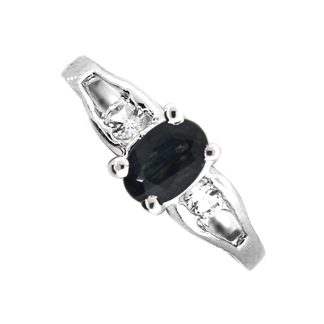Fine Jewelry Designer Sebastian 0.80CT Blue Sapphire