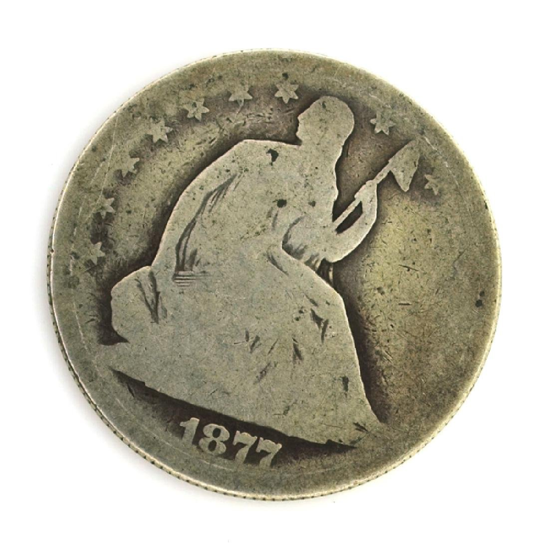 1877 Liberty Seated Half Dollar Coin  Coin
