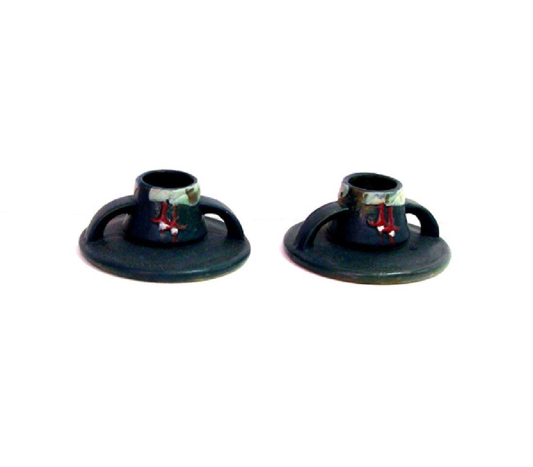 Candlestick (pair) /RSVL- Fuchsia BL