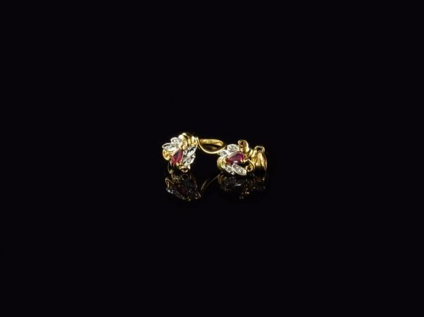 212: 14 kt. Gold, Ruby and Diamond Ring, Pendant Set, I