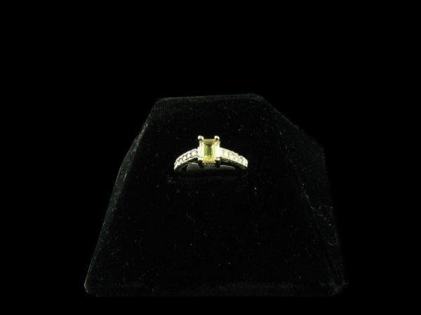 228: GOV: 14 kt. White Gold, 0.83CT Citrine and Diamond