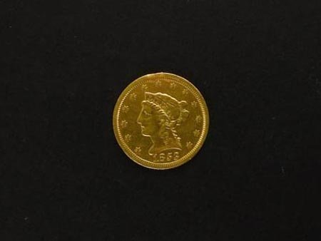 222: GOV: 1853 $2.5 US Gold Coin, COLLECTABLE!!