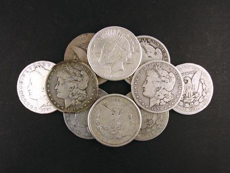 240: GOV: 10 Misc. Silver Dollar Coin, COLLECTABLE!!