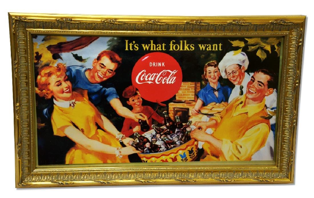 Museum Framed Coca-Coca Advertising  10.5x17.5