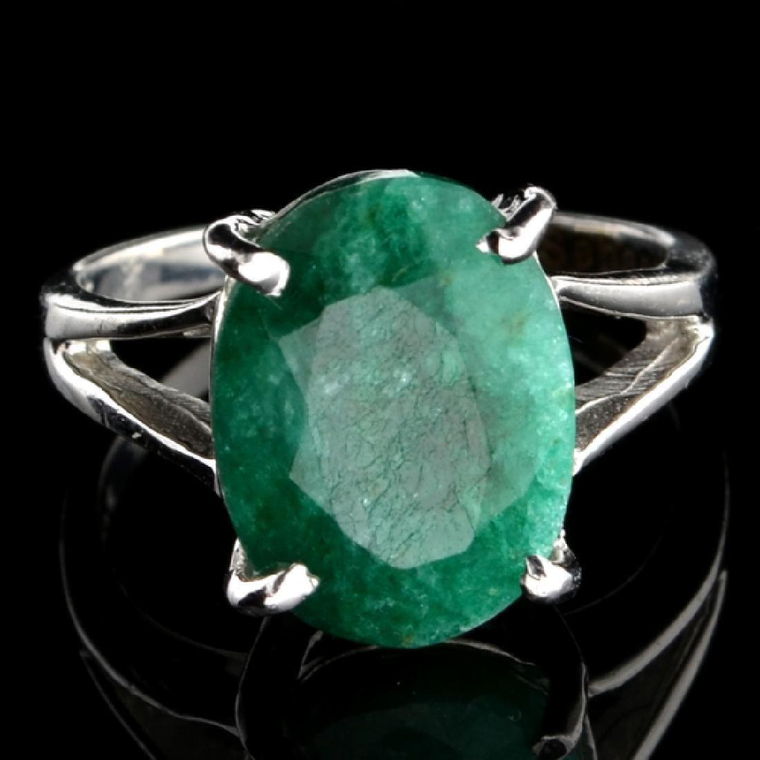 Fine Jewelry Designer Sebastian 5.50CT Oval Cut Green