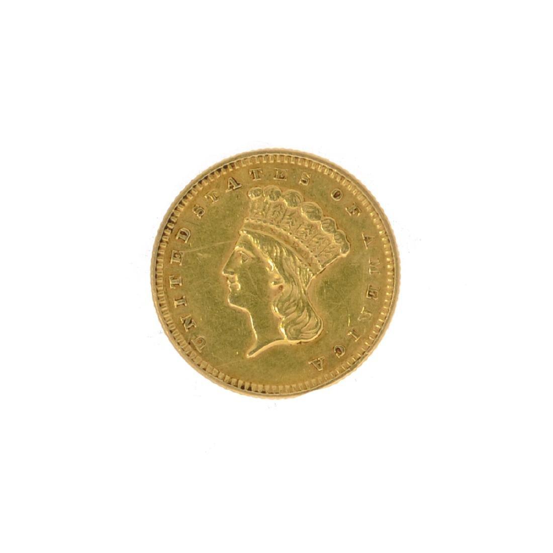 *1856 $1 U.S. Indian Head Gold Coin (JG N)