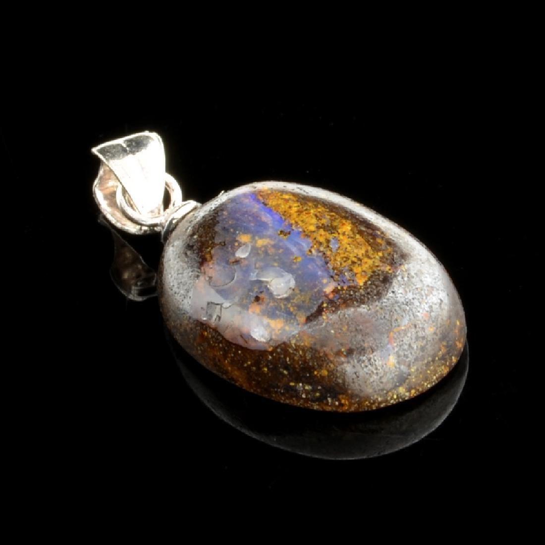 7.30CT Boulder Opal Sterling Silver Pendant