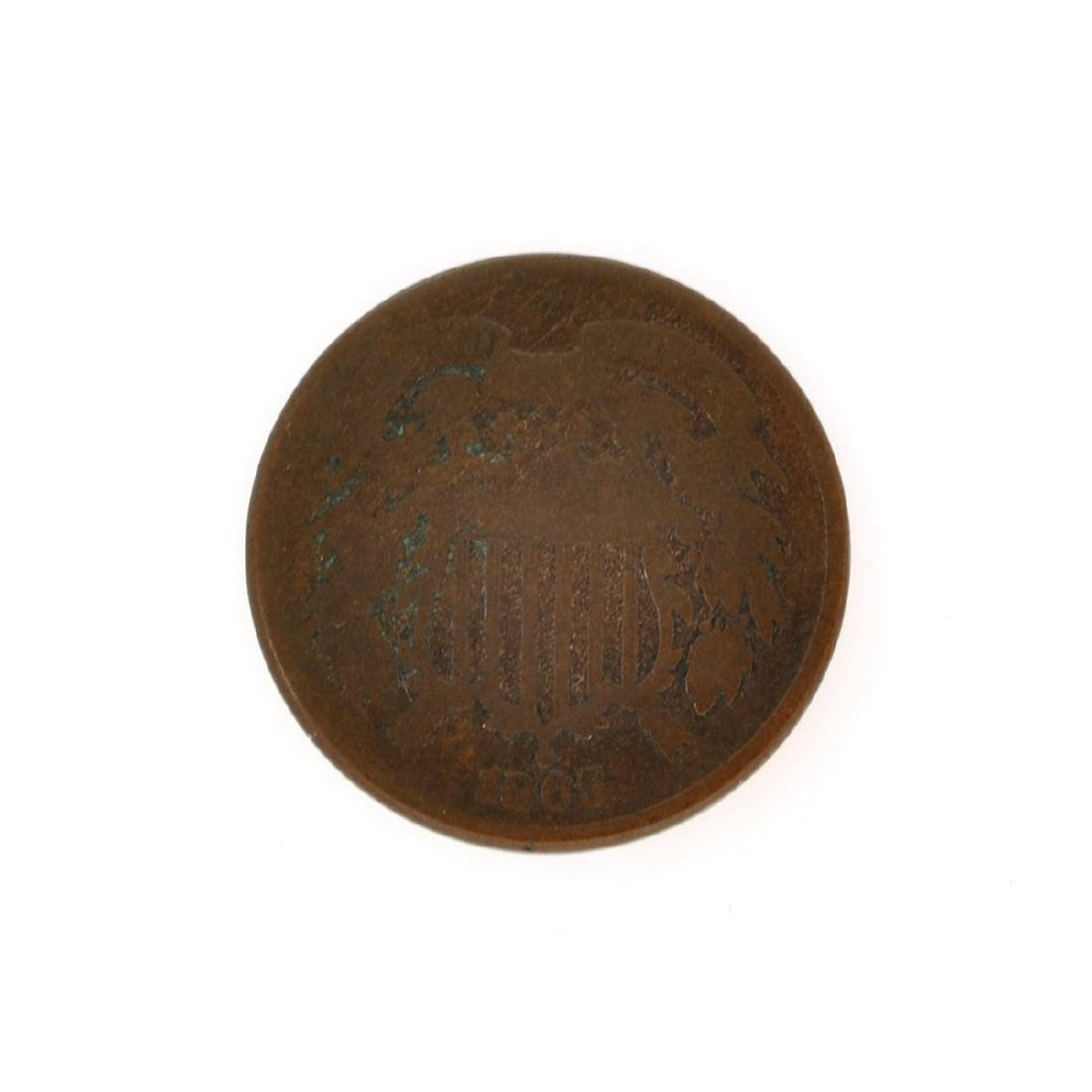 Rare 1865 Two-Cents Piece Coin