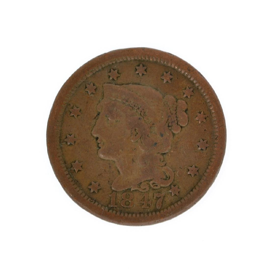 Rare 1847 Large Cent Coin