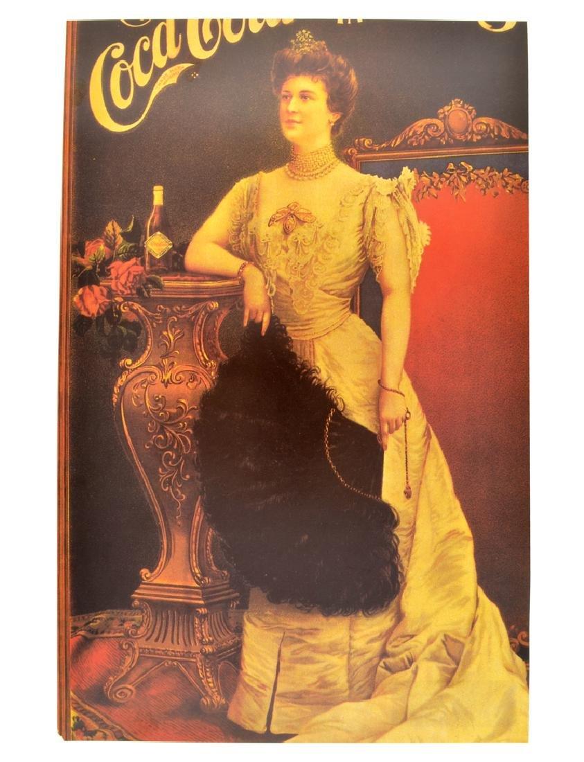 Rare Vintage Coca Cola Advertising Poster (10'' x