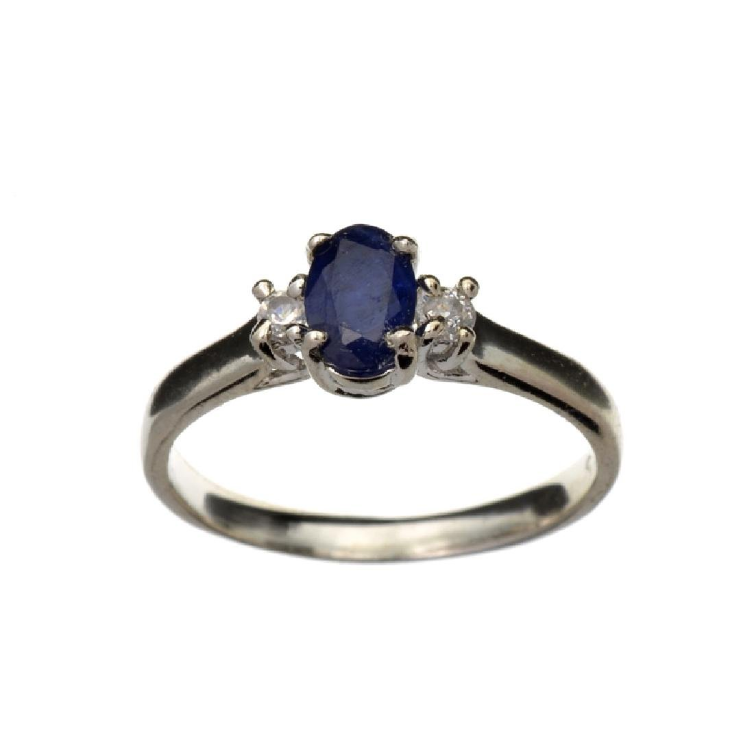 APP: 0.8k Fine Jewelry 0.45CT Blue Sapphire And Topaz