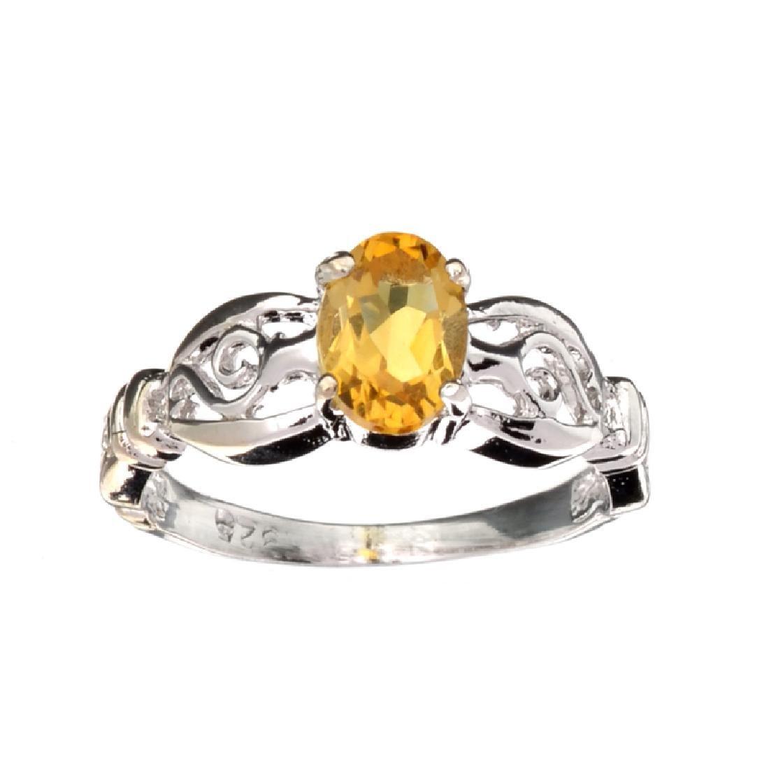 APP: 0.6k Fine Jewelry 0.86CT Oval Cut Citrinie Quartz
