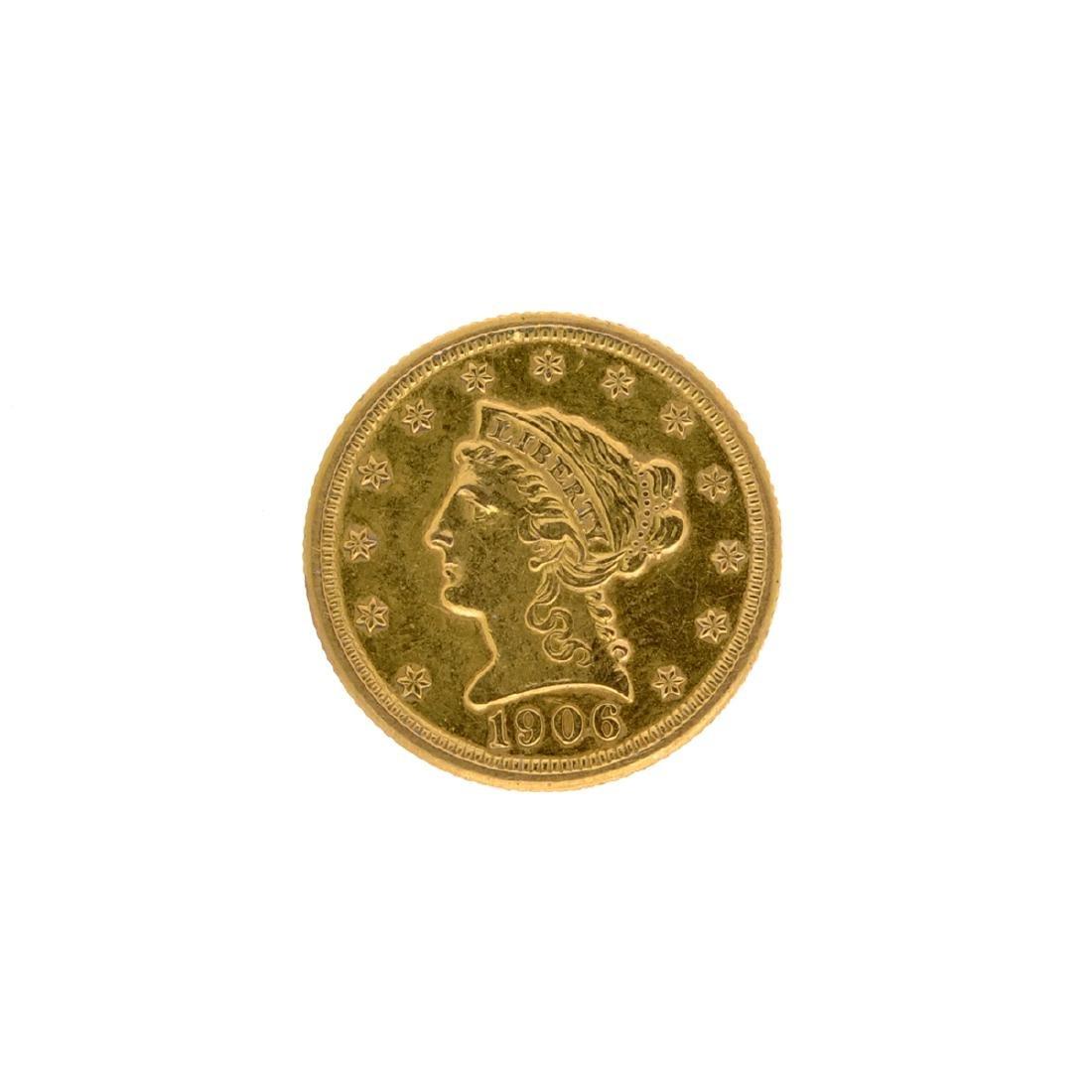 1906 $2.50 U.S. Liberty Head Gold Coin