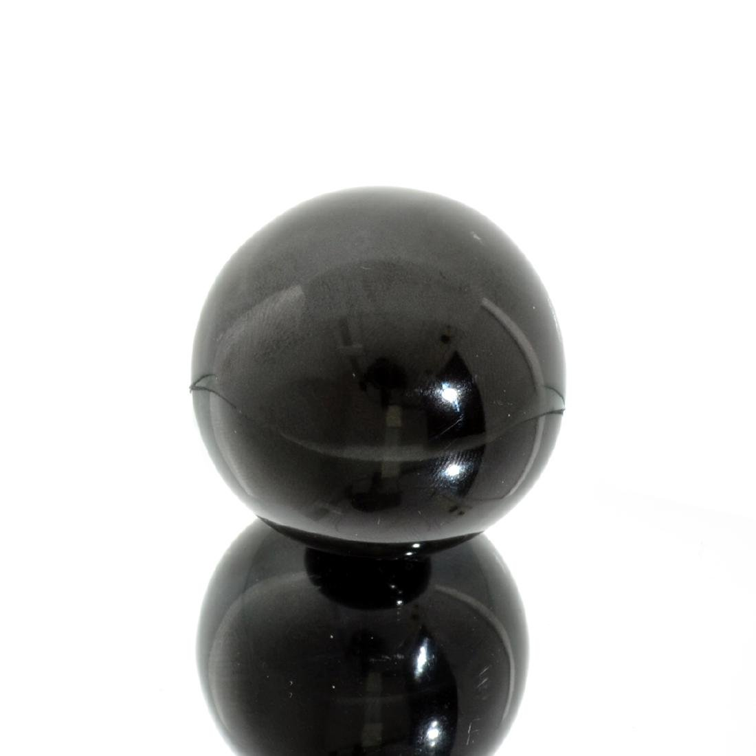 APP: 1k Rare 729.50CT Sphere Cut Black Agate Gemstone