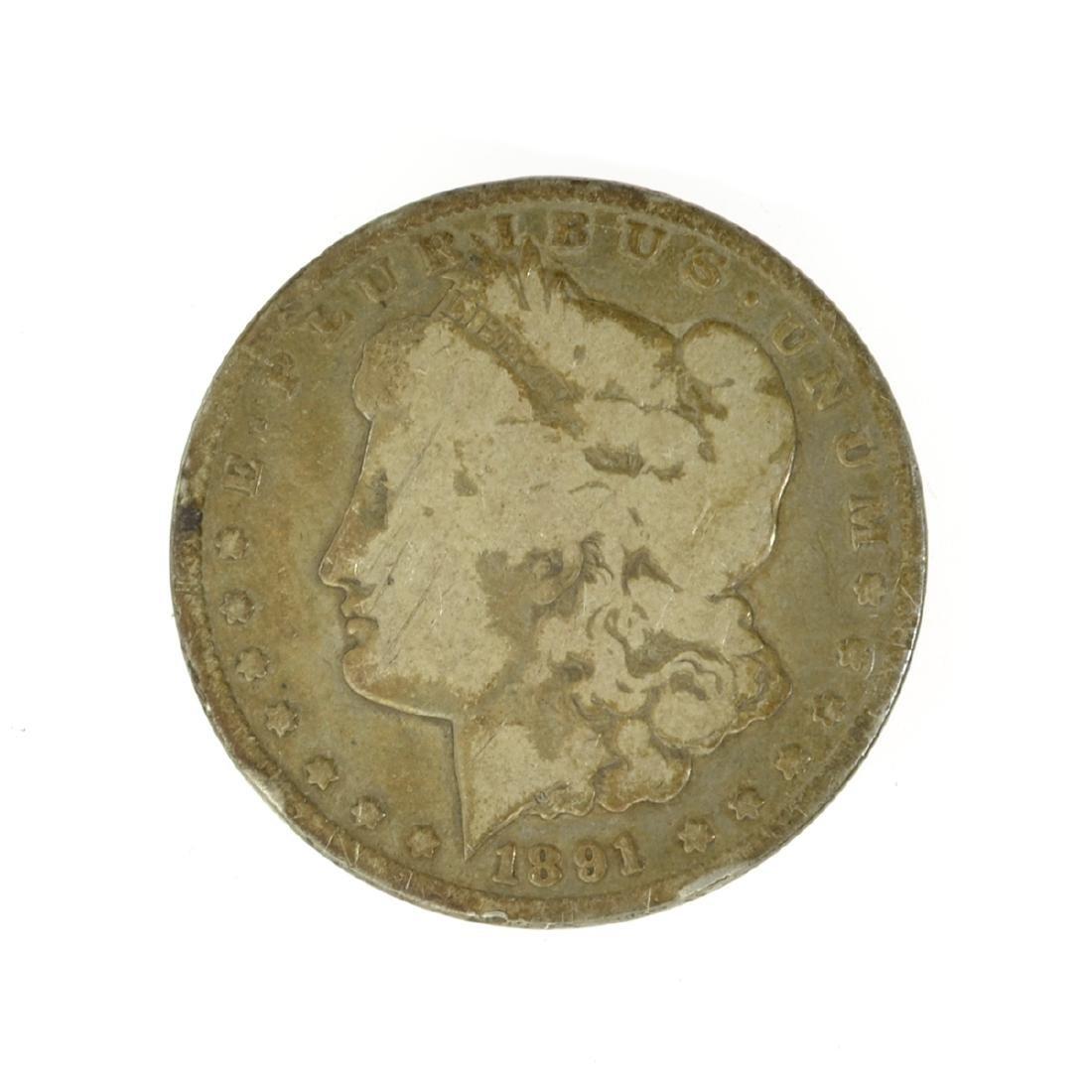 *1891-CC Silver Morgan Dollar Coin (JG)