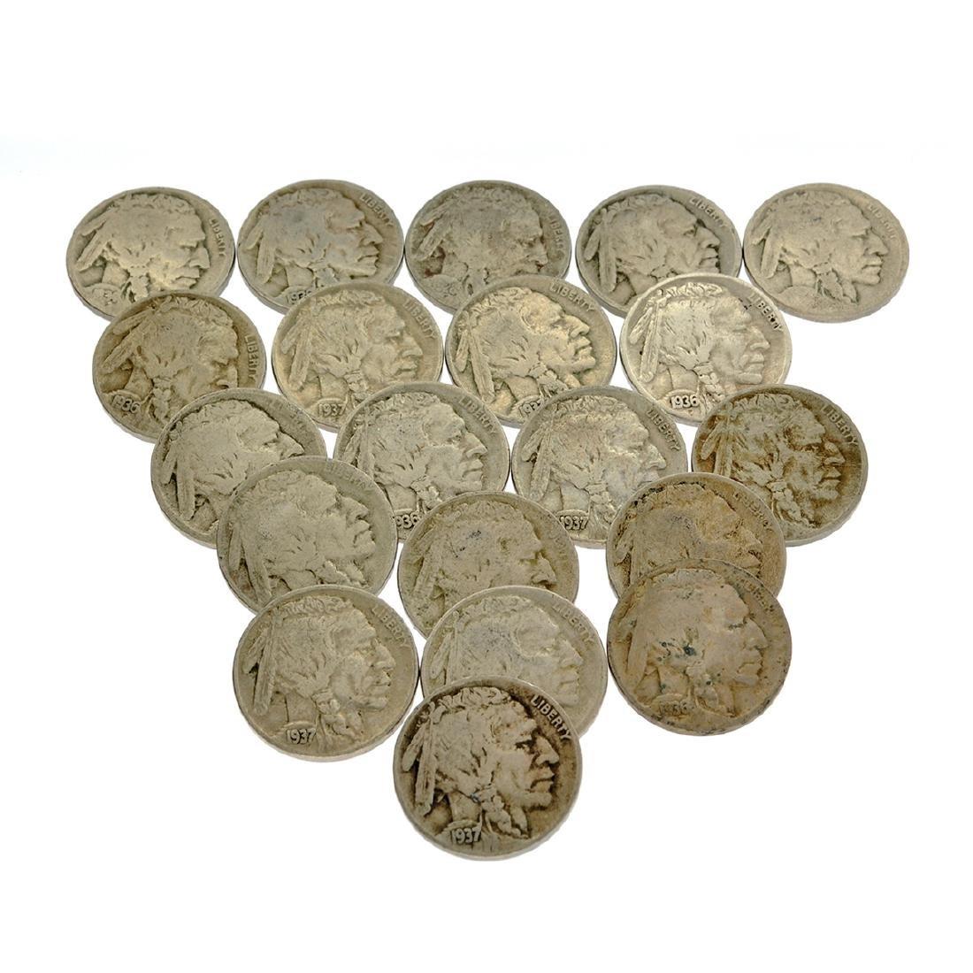 20 Misc. Buffalo Nickel Coins
