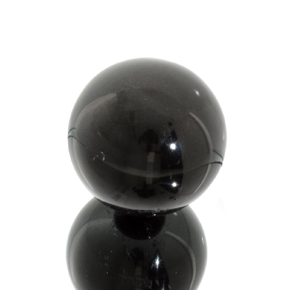 APP: 1.1k Rare 768.50CT Sphere Cut Black Agate Gemstone