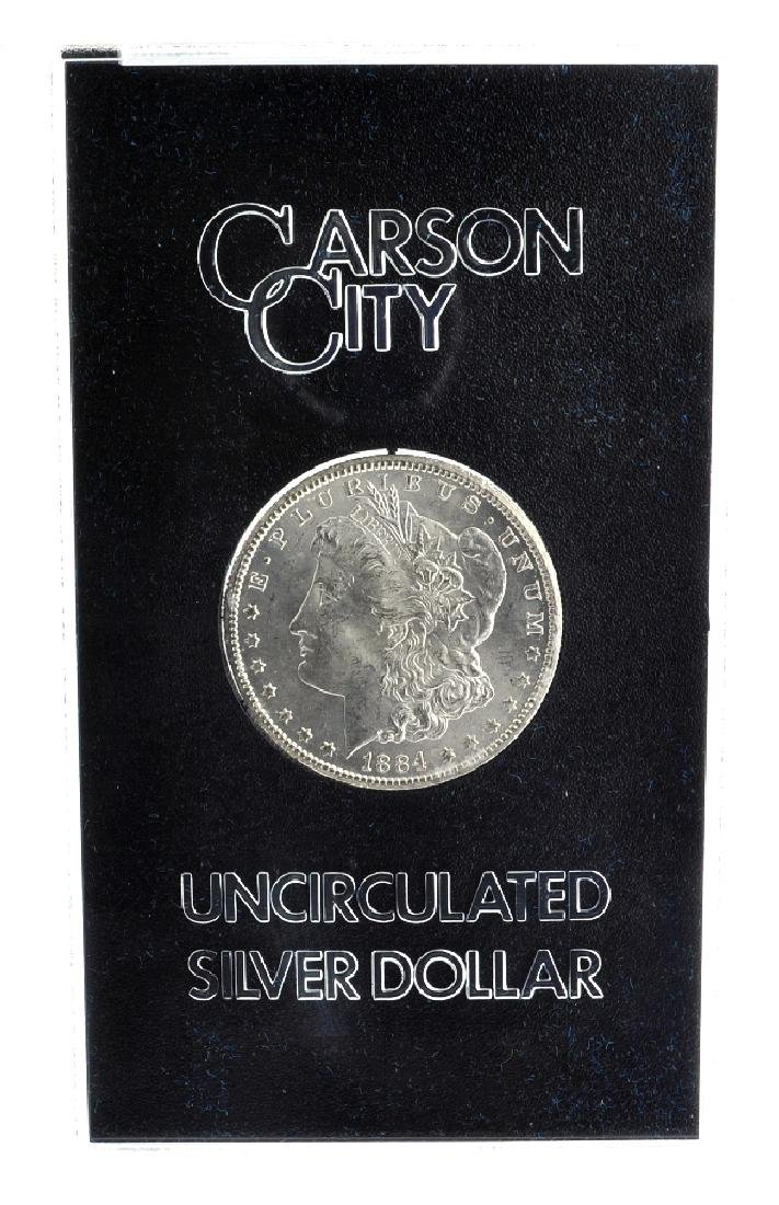 1884-CC Morgan Uncirculated Silver Dollar In Box Coin