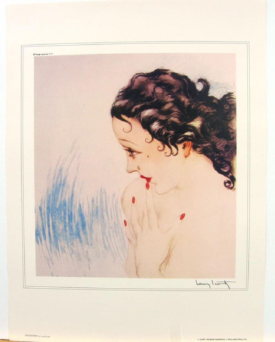 LOUIS ICART (After) Winsome Print, 18'' x 23.5''