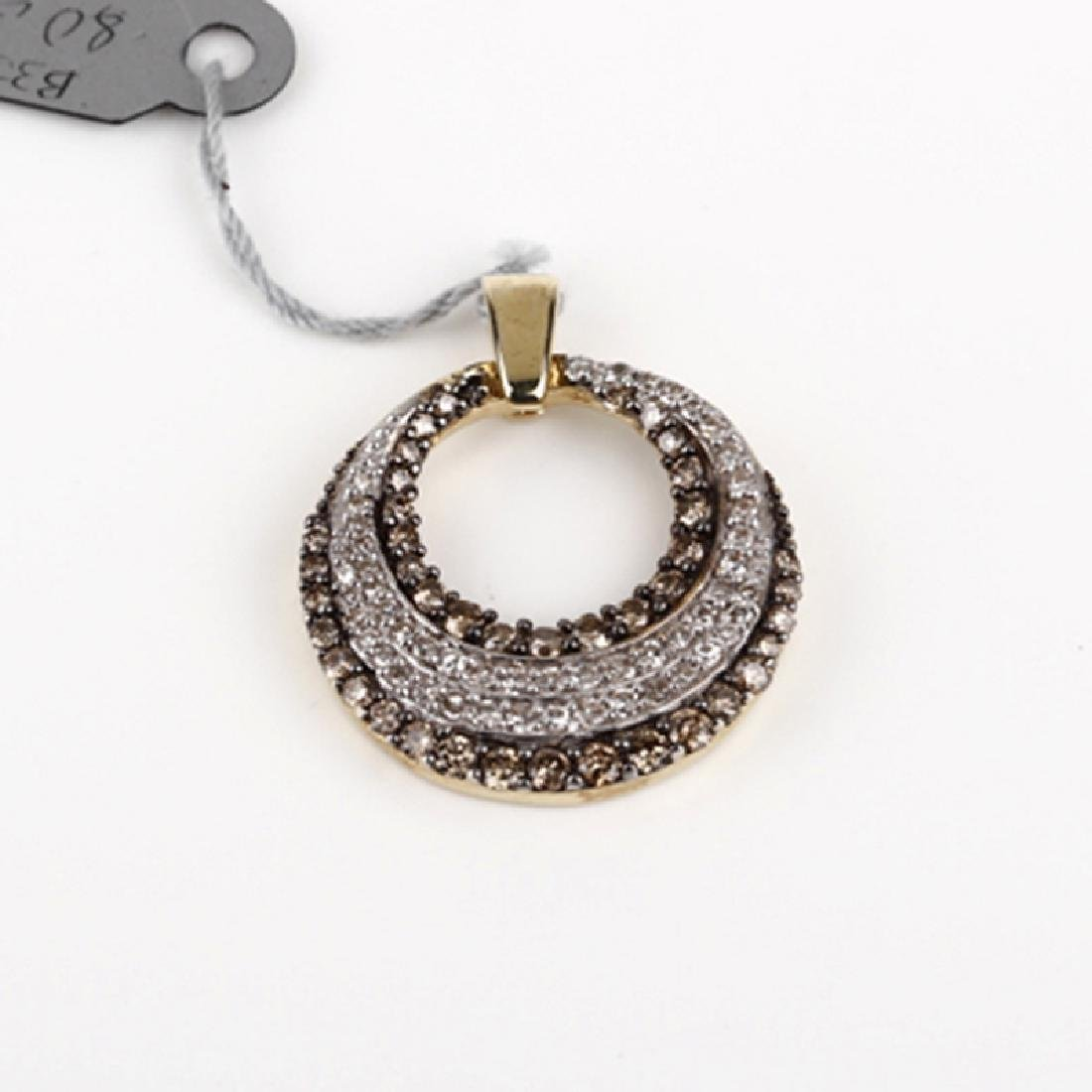 *Fine Jewelry 10KT Gold, 1.00CT Brownd Diamond And