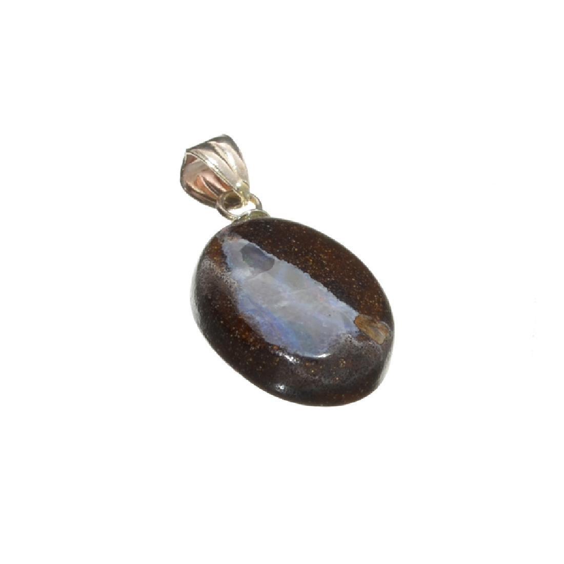 8.75CT Boulder Opal Sterling Silver Pendant