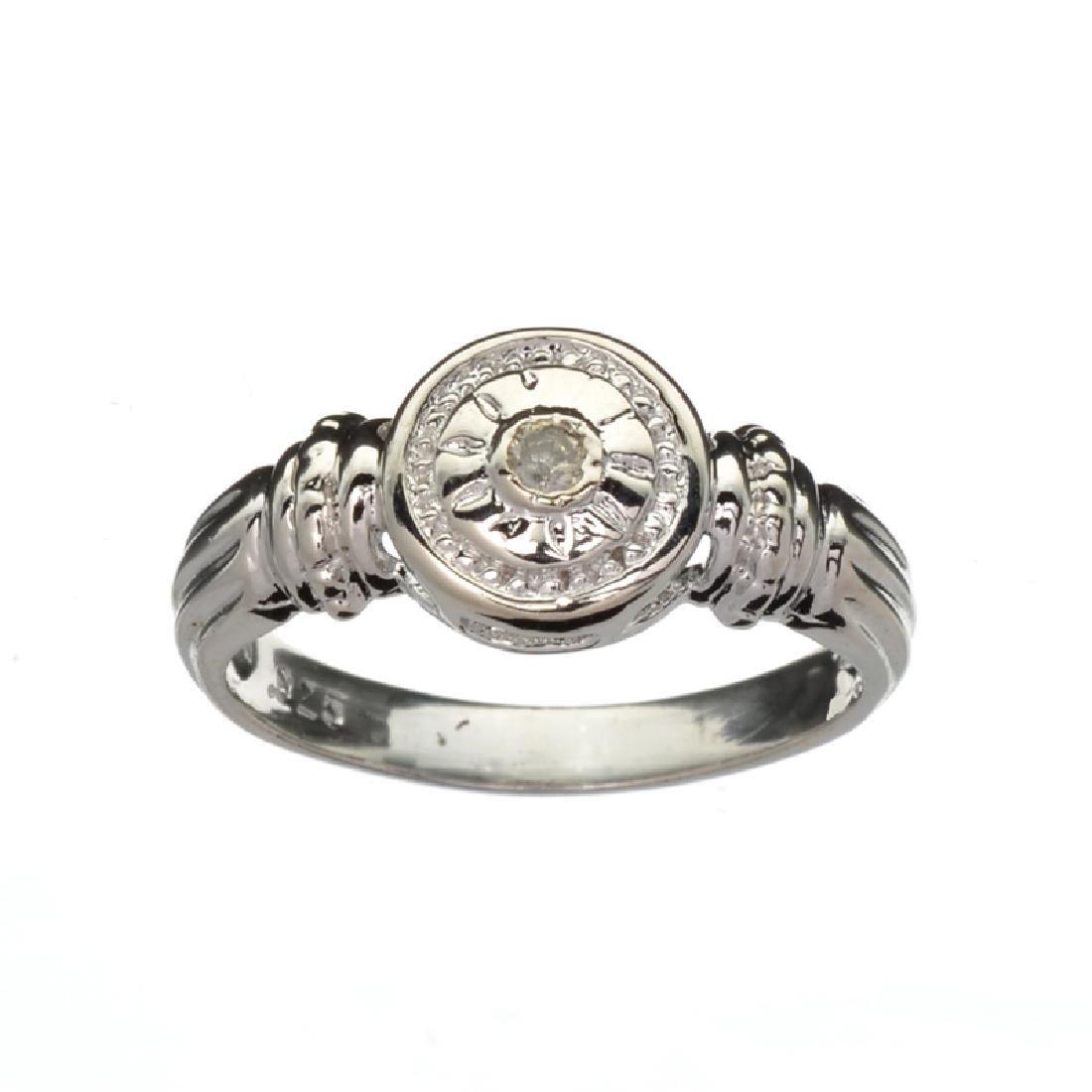 APP: 0.8k Fine Jewelry 0.05CT Round Cut Diamond And