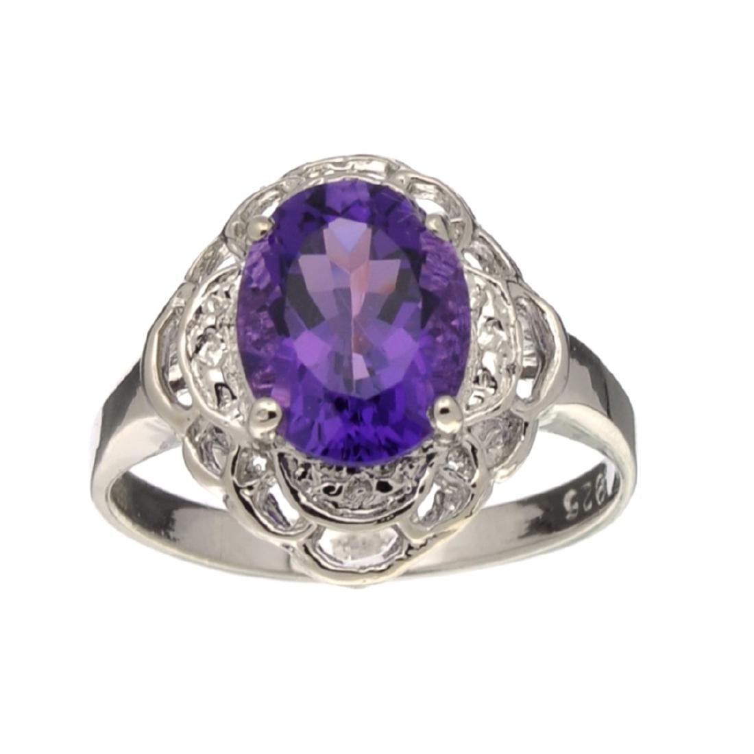 Fine Jewelry Designer Sebastian, Amethyst And Sterling