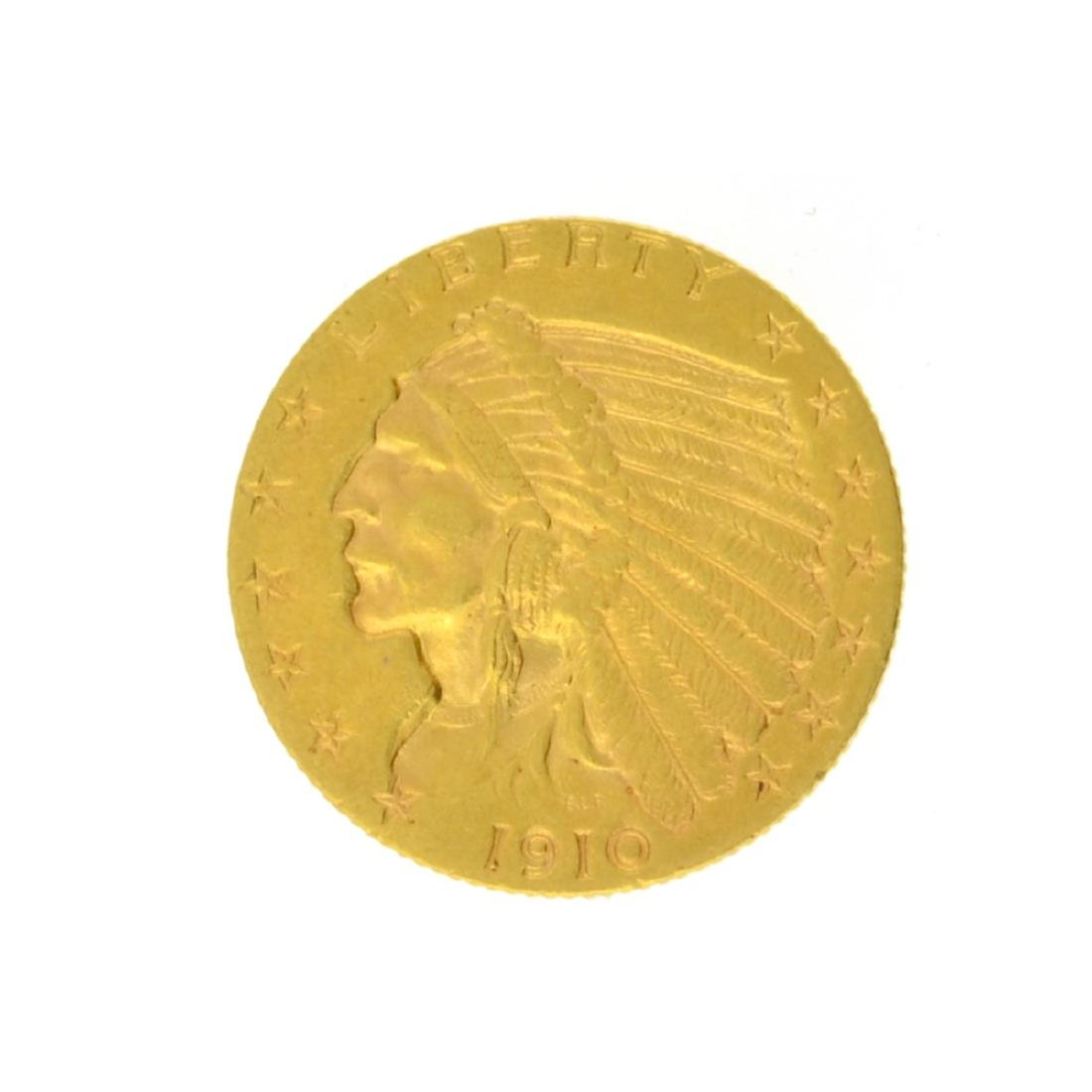 1910 $2.50 Indian Head Gold Coin