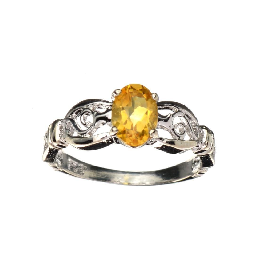 APP: 0.6k Fine Jewelry 0.86CT Oval Cut Citrine Quartz