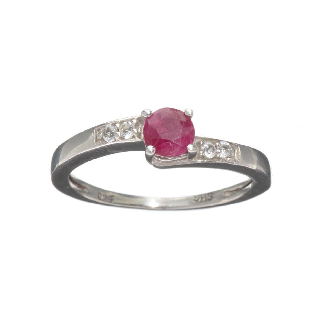 APP: 0.7k Fine Jewelry 0.50CT Round Cut Ruby And