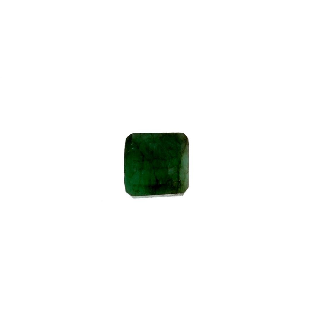 APP: 1k 4.18CT Square Step Cut Green Emerald Gemstone