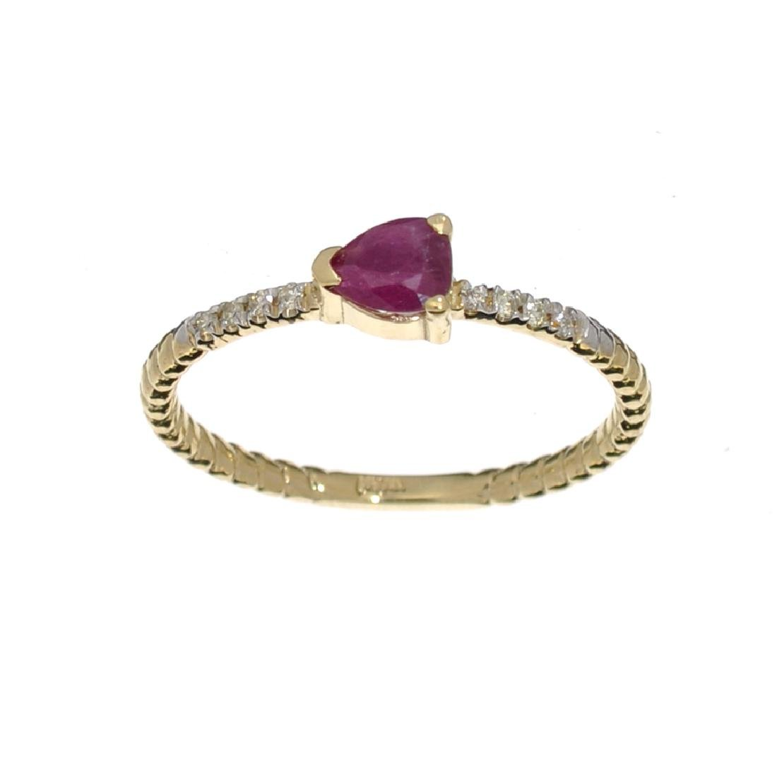 APP: 0.7k Fine Jewelry 14KT Gold, 0.37CT Ruby And