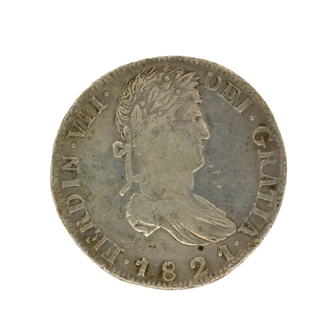 1821 Extremely Rare Eight Reales American First Silver