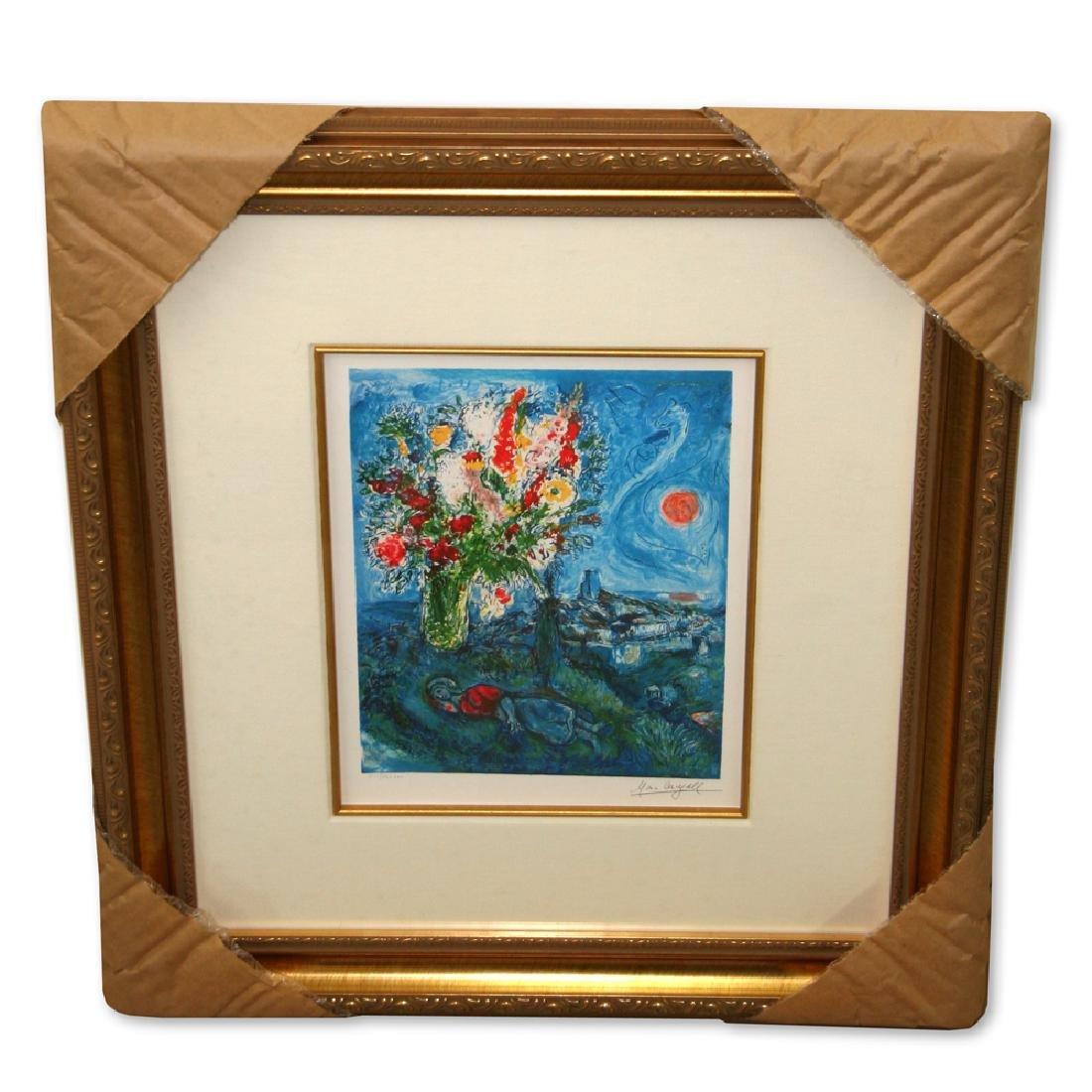 Chagall (After) 'La Dormeuse Aux Fleurs' Framed