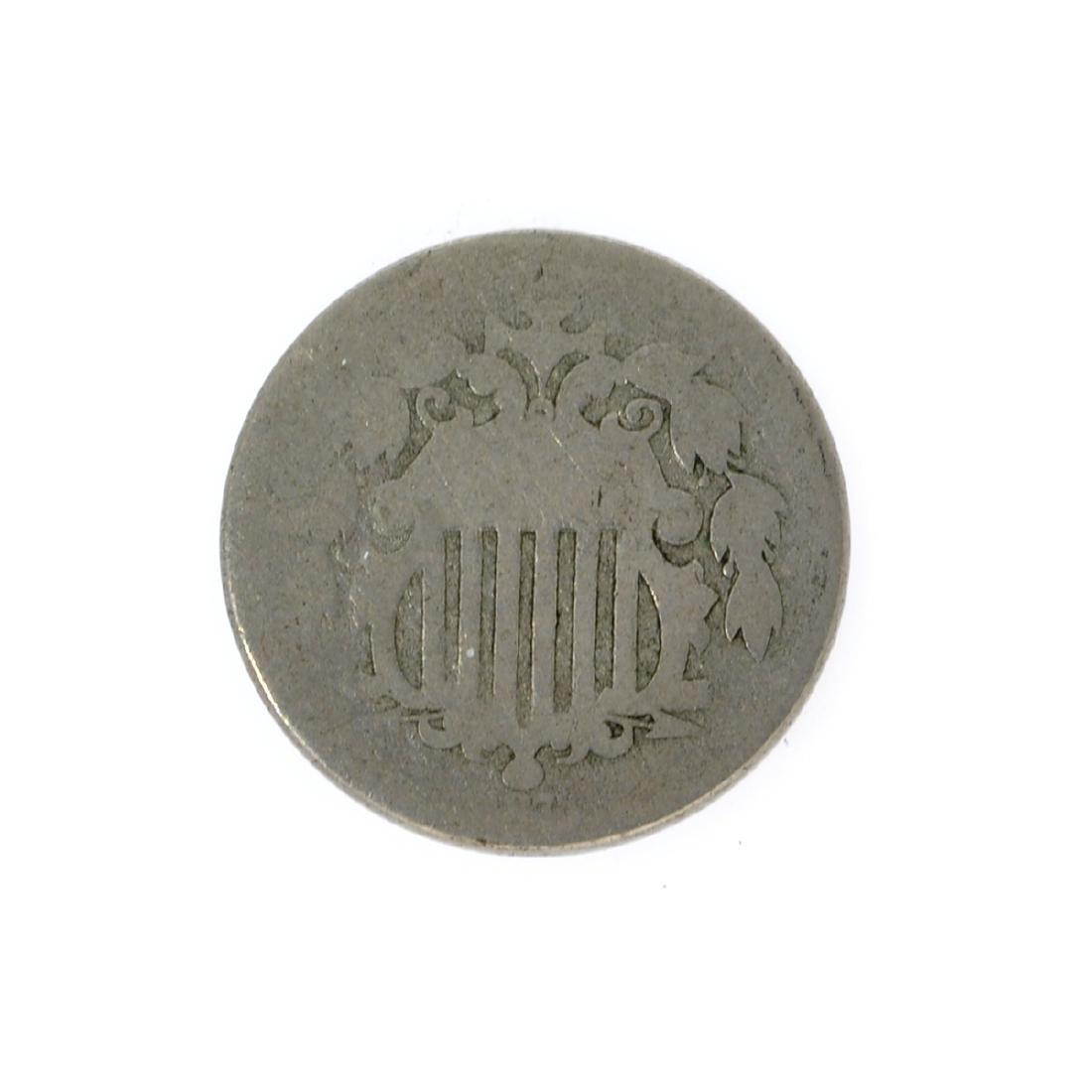 1873 Shield Nickel Coin